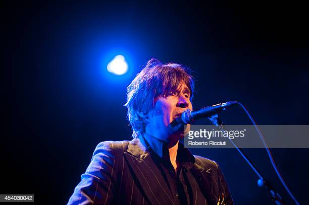 Justin Currie performs on stage at Queens Hall on August 23, 2014 in Edinburgh, United Kingdom.