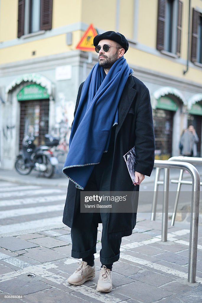 bas prix 60349 a1d9e Justin Dean poses wearing a Comme des Garcons coat and Nike ...