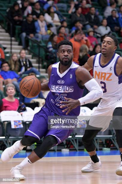 Justin Dentmon of the Texas Legends handles the ball against the Northern Arizona Suns on December 16 2017 at Dr Pepper Arena in Frisco Texas NOTE TO...