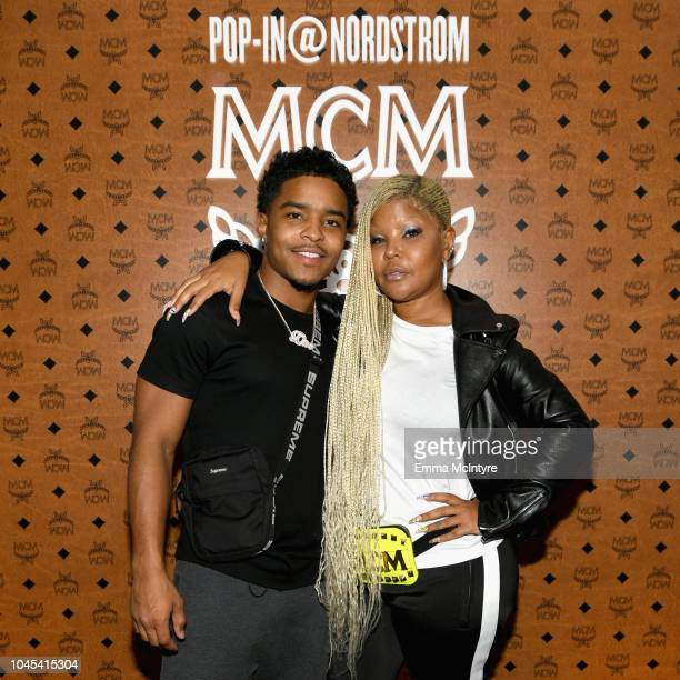 Justin Dior Combs and Misa Hylton attend PopIn@Nordstrom MCM at Chateau Marmont on October 3 2018 in Los Angeles California