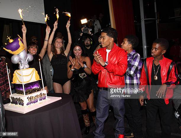 Justin Dior Combs at his 16th birthday party at M2 Ultra Lounge on January 23, 2010 in New York City.