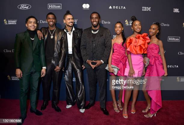 Justin Dior Combs Christian Casey Combs Quincy Taylor Brown Sean Diddy Combs D'Lila Star Combs Chance Combs and Jessie James Combs attend the...