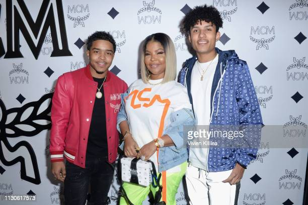Justin Dior Combs MCM Global Creative Partner Misa Hylton and Niko Brim attend the MCM Rodeo Drive Store Grand Opening Event at MCM Rodeo Drive on...