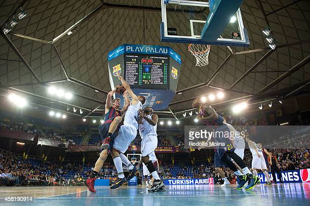 Justin Doellman #5 of FC Barcelona in action during the 20142015 Turkish Airlines Euroleague Basketball Regular Season Date 3 game between FC...