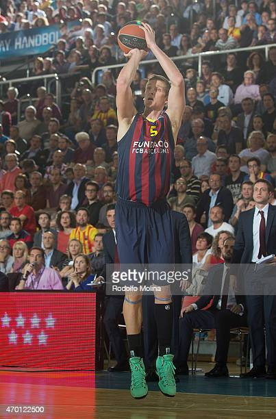Justin Doellman #5 of FC Barcelona in action during the 20142015 Turkish Airlines Euroleague Basketball Play Off Game 2 between FC Barcelona v...