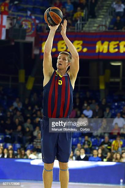 Justin Doellman of FC Barcelona during the Euroleague Basketball match between FC Barcelona and Fenerbahce Ulker at Palau Blaugrana in Barcelona...