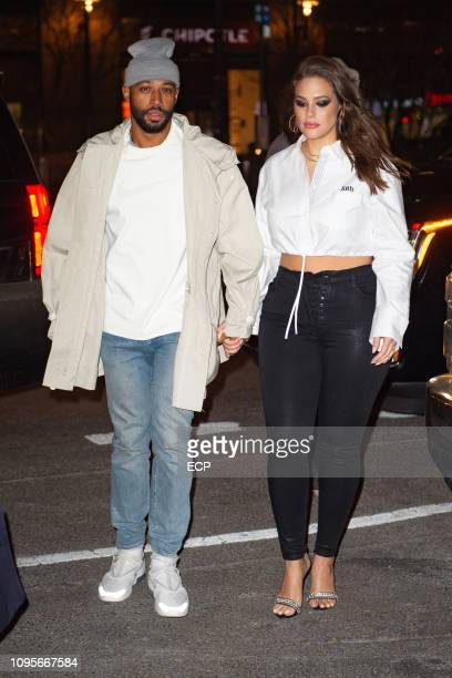 Justin Ervin and Ashley Graham attend an event for American Beauty Star Season 2 on January 17 2019 in New York City