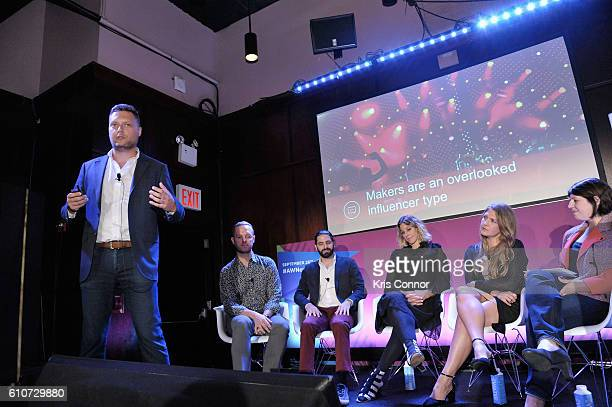 Justin Etheridge John Wagner Jon Levy Carla Sosenko Amanda Morrison and Stephanie Agrest speak onstage at the From Influence to Action The Best Brand...