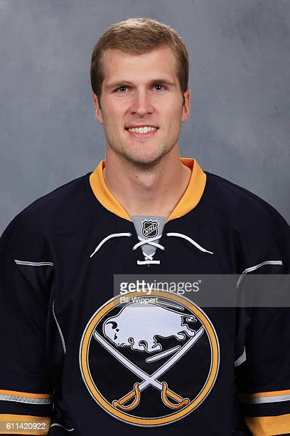 Justin Falk of the Buffalo Sabres poses for his official headshot of the 20162017 season on September 22 2016 at the KeyBank Center in Buffalo New...