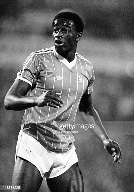 Justin Fashanu in action for Nottingham Forest during a preseason match against Real Zaragoza in Spain August 1981