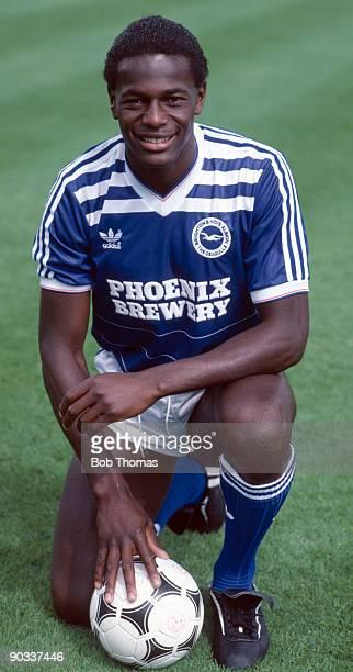 Justin Fashanu of Brighton circa 1985