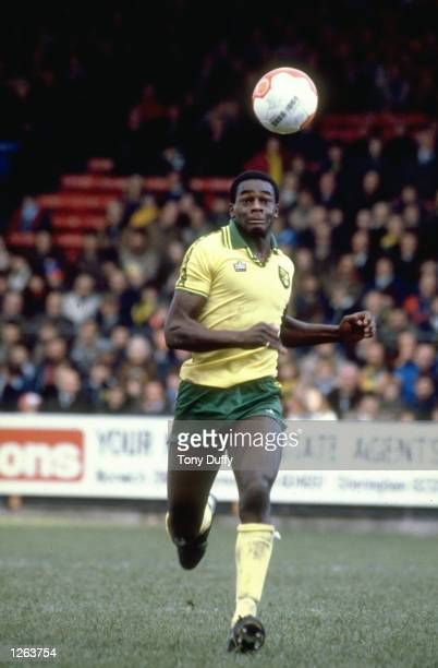 Justin Fashanu of Norwich City in action during a match Mandatory Credit Tony Duffy/Allsport