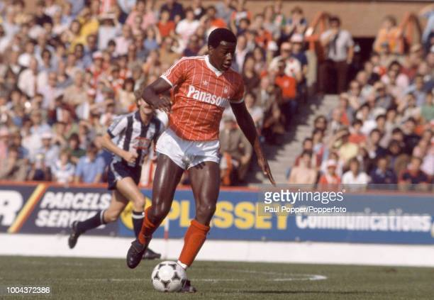 Justin Fashanu of Nottingham Forest in action during the Football League Division One match between Nottingham Forest and West Bromwich Albion at the...