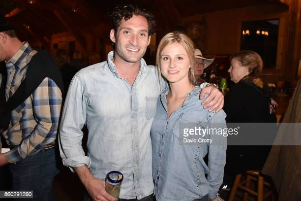 Justin Fichelson and Hanne Vastveit attend Hearst Castle Preservation Foundation Annual Benefit Weekend Hearst Ranch Patron Cowboy Cookout at Hearst...