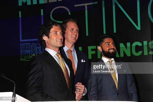 Justin Fichelson Andrew Greenwell and Roh Habibi attend Million Dollar Listing San Francisco Rings The Nasdaq Stock Market Opening Bell at NASDAQ...