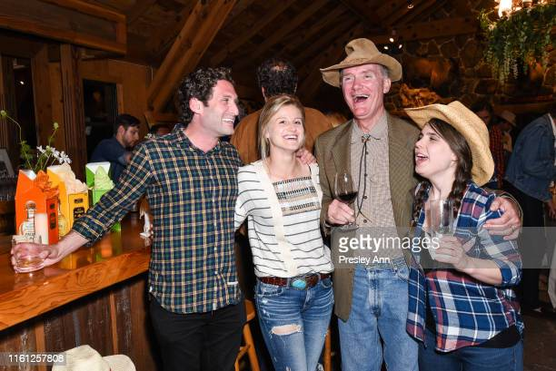 Justin Fichelson Hanne Vastveit Rodney Mims Cook and Julia Cox attend Hearst Castle Preservation Foundation Patron Cowboy Cookout at Hearst Ranch on...