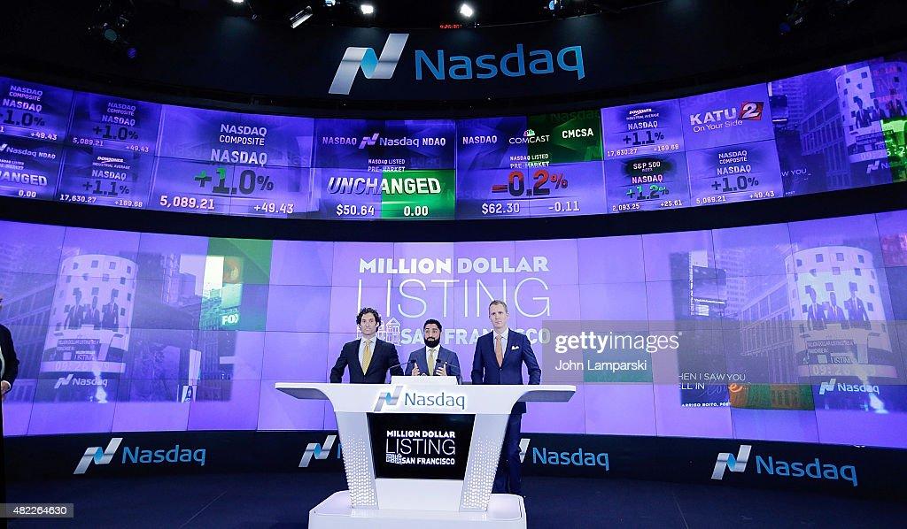 """Million Dollar Listing San Francisco"" Ring The Nasdaq Stock Market Opening Bell : News Photo"