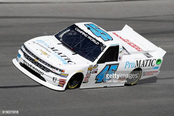 Justin Fontaine Niece Motorsports ProMatic Automation/Superior Essex Chevrolet Silverado during practice for the NextEra Energy Resources 250 NASCAR...