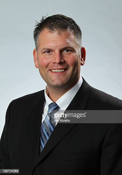 Justin Fuente of the Memphis Tigers poses for a portrait before a press conference introducing him as the new head football coach on December 8 2011...