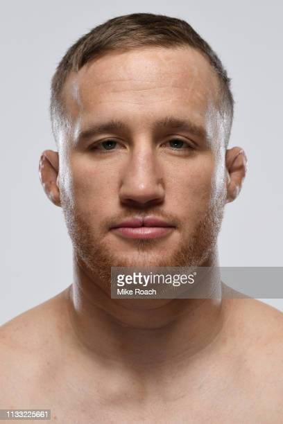 Justin Gaethje poses for a portrait during a UFC photo session on March 27 2019 in Philadelphia Pennsylvania