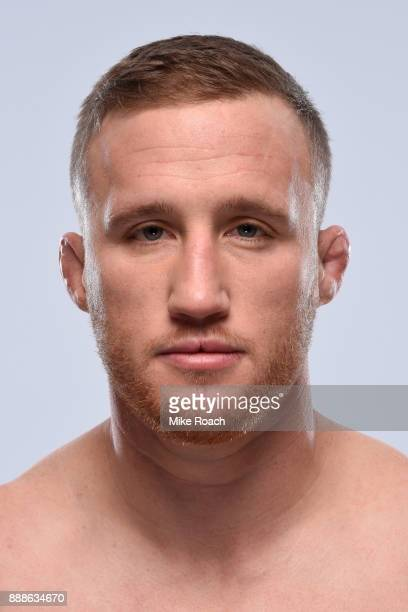 Justin Gaethje poses for a portrait during a UFC photo session on November 29 2017 in Detroit Michigan