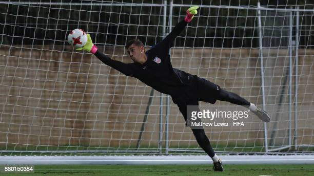 Justin Garces of the United States in action during a training session ahead of the FIFA U17 World Cup India 2017 tournament at DY Patil Stadium on...
