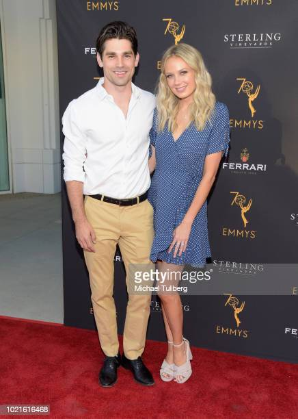 Justin Gaston and actress Melissa Ordway attends the Television Academy's Daytime Programming Peer Group Reception at Saban Media Center on August 22...