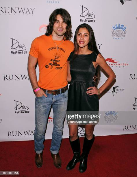 Justin Gaston and Giglianne Braga attend the Runway Magazine Summer 2010 Issue Release Party at Drai's Hollywood on June 9 2010 in Hollywood...
