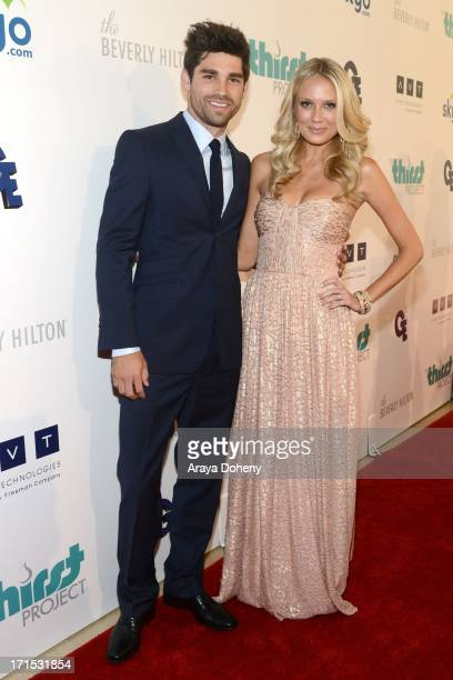 Justin Gaston and Melissa Ordway attend the 4th Annual Thirst Gala at The Beverly Hilton Hotel on June 25 2013 in Beverly Hills California