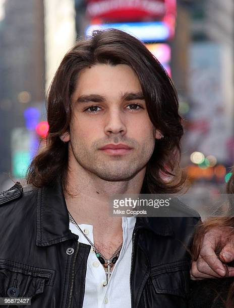 Justin Gaston attends If I Can Dream cast photo op in Times Square on January 19 2010 in New York City