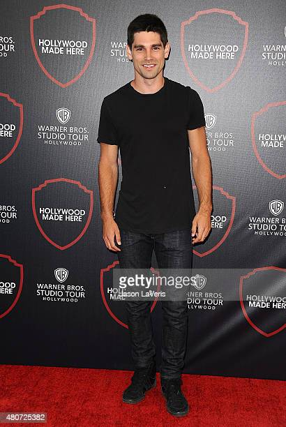 Justin Gaston attends the unveiling of Warner Bros Studio expansion at Warner Bros Studios on July 14 2015 in Burbank California