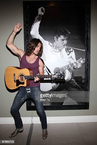Justin Gaston poses for a photo at the If I Can Dream house on March 18 2010 in Los Angeles California