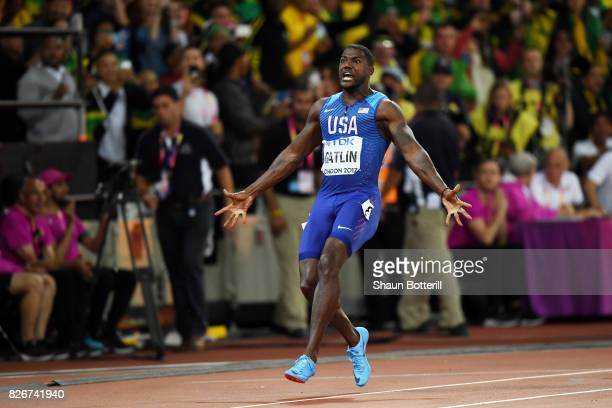 Justin Gatlin of the United States wins the Men's 100 metres final in 992 seconds during day two of the 16th IAAF World Athletics Championships...
