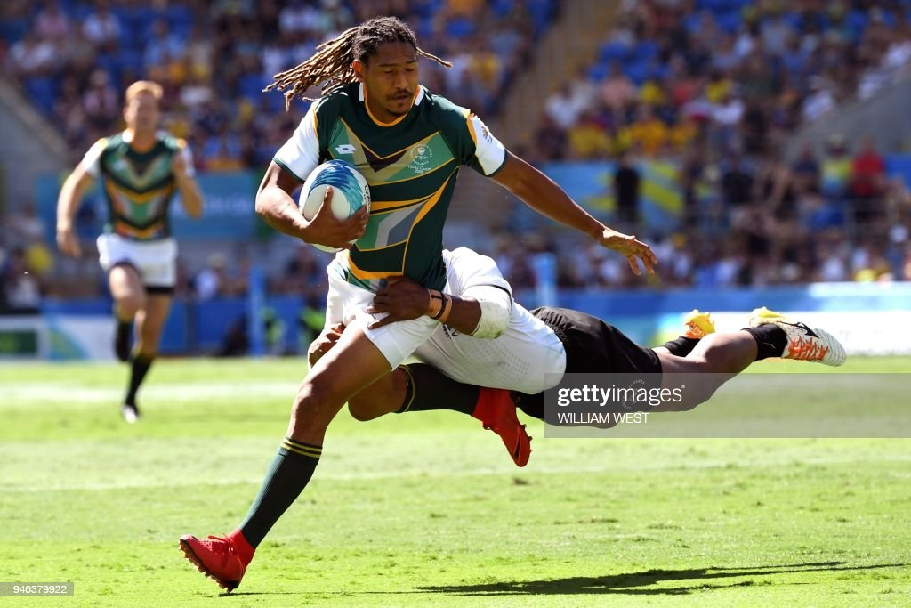 RUGBY SEVENS-CGAMES-2018-GOLD COAST : News Photo