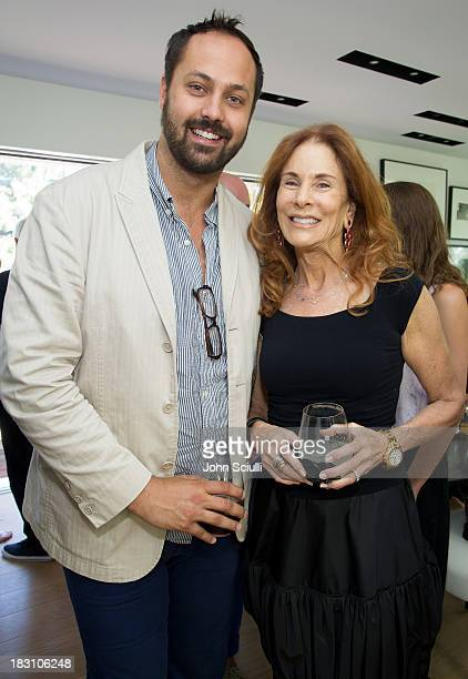 Justin Gilanyi and Pamela Hollander attend the Rema Hort Mann Foundation conversation with Susan and Michael Hort on September 28 2013 in Los Angeles...