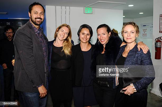 Justin Gilanyi Heather Harmon Frances Horn Alisa Tager and Maya McLaughlin attend The Mistake Room's Benefit Auction on October 13 2013 in Los...