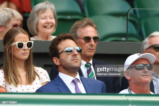 Justin Gimelstob attends day eleven of the Wimbledon Lawn Tennis Championships at All England Lawn Tennis and Croquet Club on July 13 2018 in London...