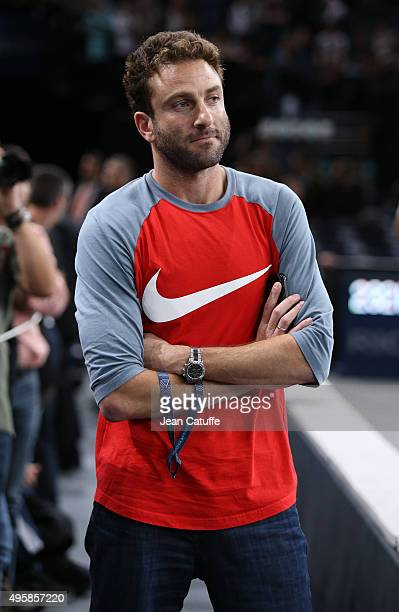Justin Gimelstob coach of John Isner of USA looks on during day 4 of the BNP Paribas Masters held at AccorHotels Arena on November 5 2015 in Paris...