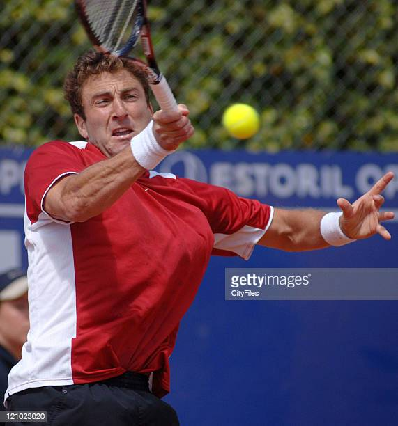 Justin Gimelstob during a match against Nicolas Massu in the second round of the Estoril Open at Estadio Nacional in Estoril Portgual on May 3 2006