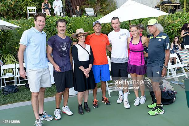Justin Gimelstob Timothy Olyphant Kimberli Meyer Lester Cook Gavin Rossdale and Nicole Gibbs attend MAK Games 2014 on October 12 2014 in Beverly...