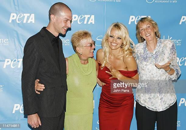 Justin Goodman, Nanci Alexander, Pamela Anderson and PETA President , Ingrid E. Newkirk
