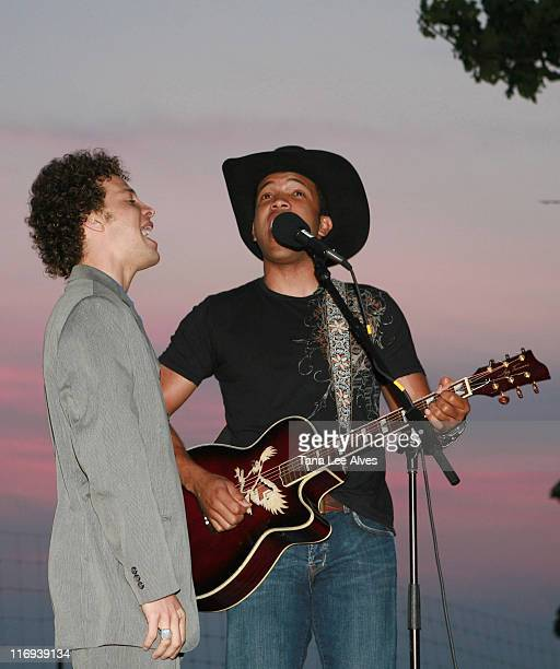 Justin Guarini and Coffey Anderson during The Creative Coalition Cohosts the Launch of Core Sessions July 1 2006 in Sag Harbor New York United States