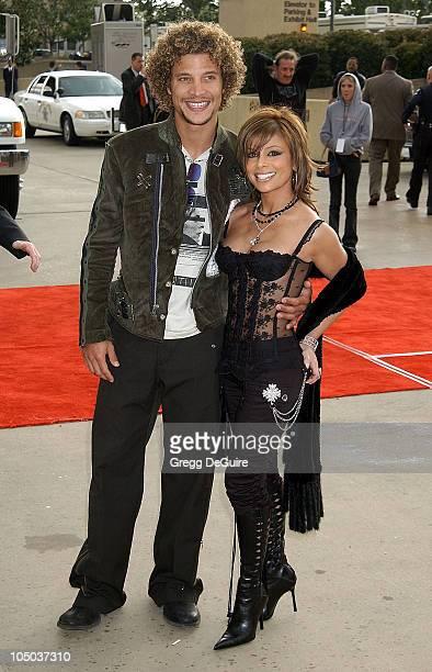 Justin Guarini and Paula Abdul during The 17th Annual Soul Train Music Awards Arrivals at Pasadena Civic Auditorium in Pasadena California United...