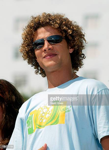 Justin Guarini appears during a taping for MTV Spring Break 2003 at the Surfcomber Hotel March 13 2003 in Miami Beach Florida