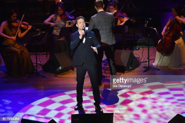 Justin Guarini performs onstage at the Winter Gala at Lincoln Center at Alice Tully Hall on February 13 2018 in New York City