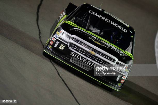 Justin Haley GMS Racing Chevrolet Silverado before the start of the Stratosphere 200 NASCAR Camping World Truck Series race on March 2018 at Las...