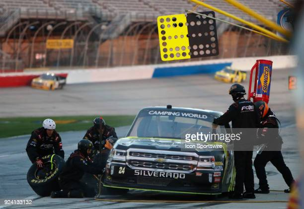 Justin Haley GMS Racing Fraternal Order Of Eagles Chevrolet Silverado during the running of the 10th annual Active Pest Control 200 on Saturday...