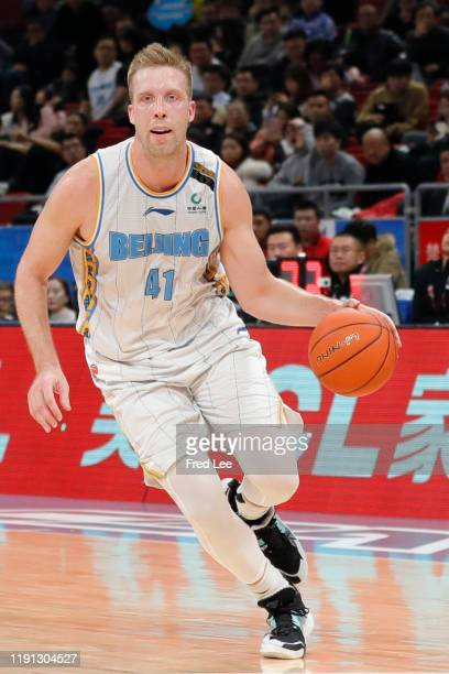 Justin Hamilton of Beijing Ducks in action during 2019/2020 CBA League - Beijing Ducks v Tianjin Pioneers at Beijing Wukesong Sport Arena on January...