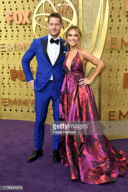 Justin Hartley and Chrishell Hartley attend the 71st Emmy Awards at Microsoft Theater on September 22, 2019 in Los Angeles, California.