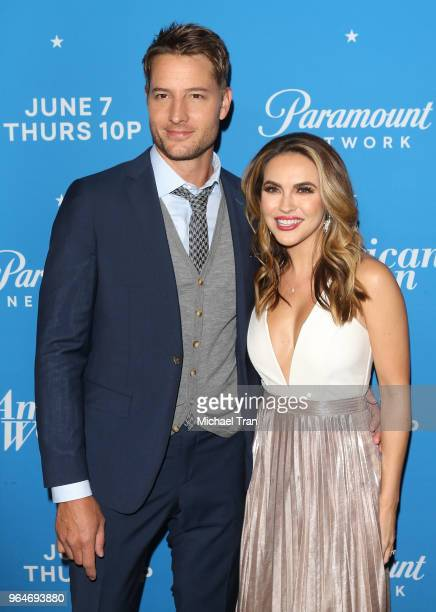 Justin Hartley and Chrishell Hartley attend the Los Angeles premiere of Paramount Network's 'American Woman' held at Chateau Marmont on May 31 2018...